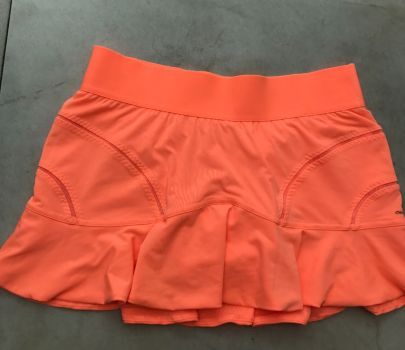 Adidas Stella Mccartney falda tenis naranjasalmón