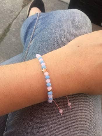 2x1 pulsera de coñor azul y rosa