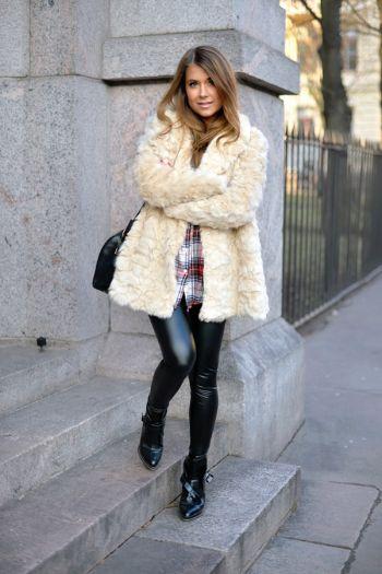 Abrigo de pelo fur