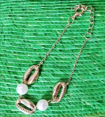 ❤️ 3 x 1 ❤️Pulsera NUEVA Conchitas y Perlas