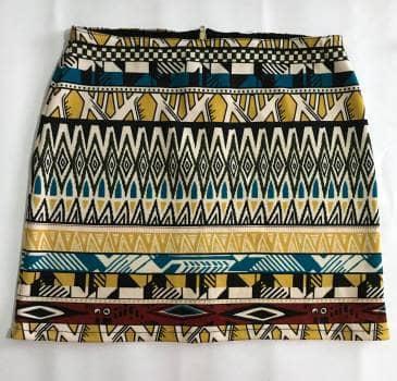 Falda tela diseño trival