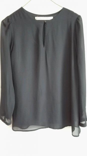 Blusa de gasa manga larga