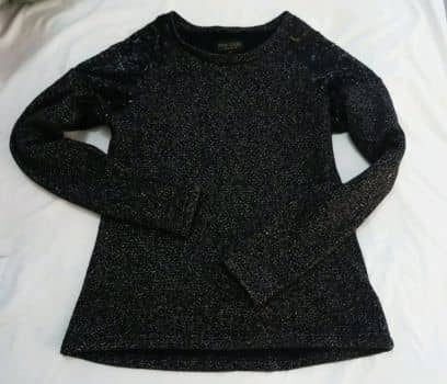 Suéter con lentejuelas