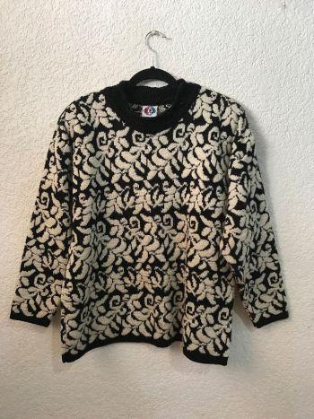 Suéter vintage con tejido tipo brocado