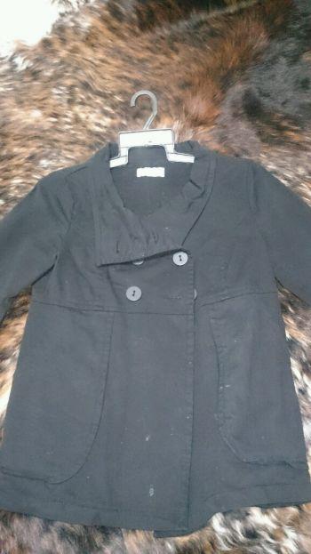 Abrigo delgado negro