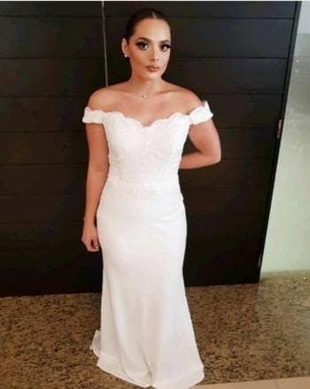 vestido blanco novia boda civil - gotrendier - 781982