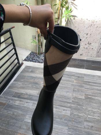 Botas de lluvia con tela