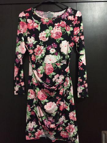Vestido de flores y otoño