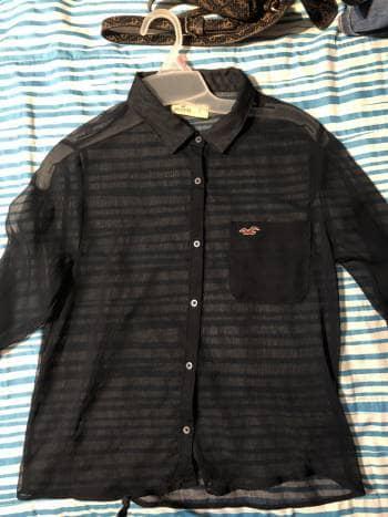 Camisa transparente hollister