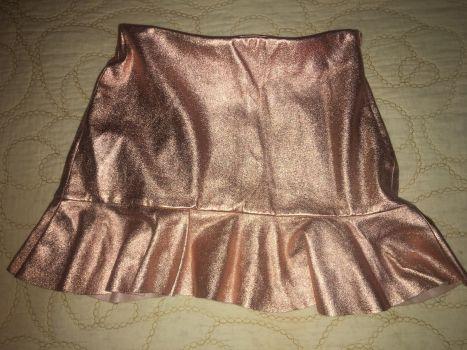 Falda gold Zara
