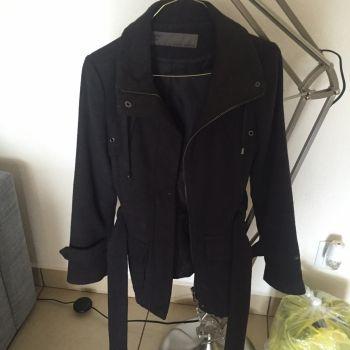 Abrigo corto ZARA gris oxford