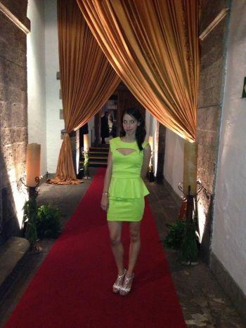 Vestido/fiesta verde limon