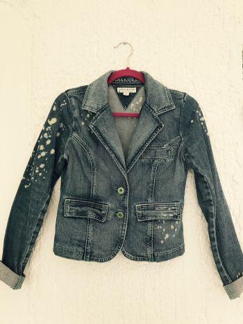 Acid wash demin jacket petite /chamarra mezclilla