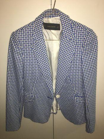 Blazer Zara Azul c/ Blanco