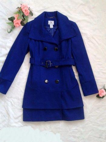 Abrigo elegante color azul
