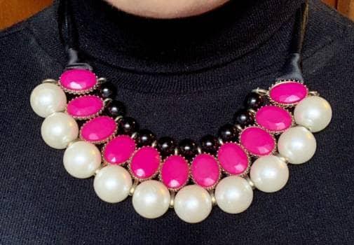Hermodo collar de perlas y liston