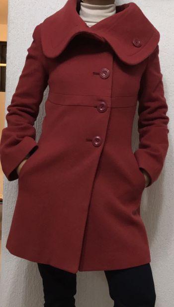 Abrigo corto Rojo lana l