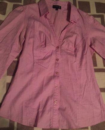 Camisa de vestir rosa T6