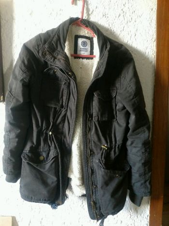 Parka gris obscuro