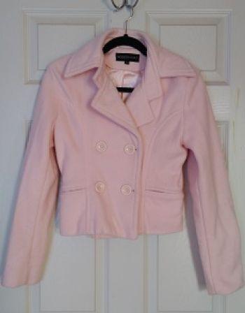 Abrigo corto rosa