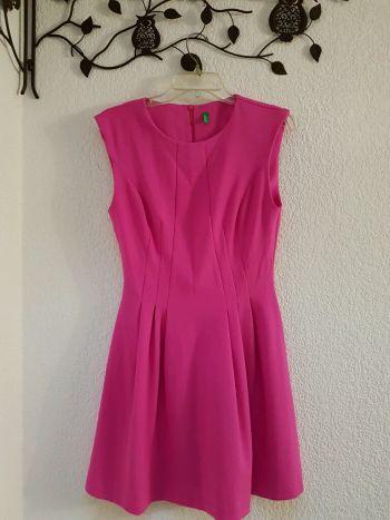 Vestido corto rosa mexicano