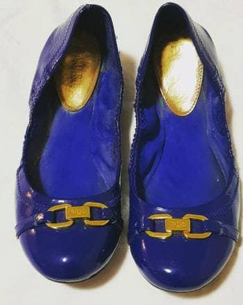 Flats azul rey