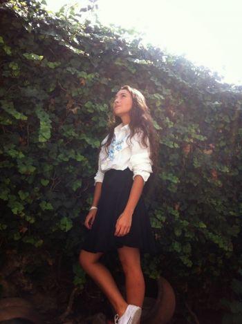 Falda negra linea A