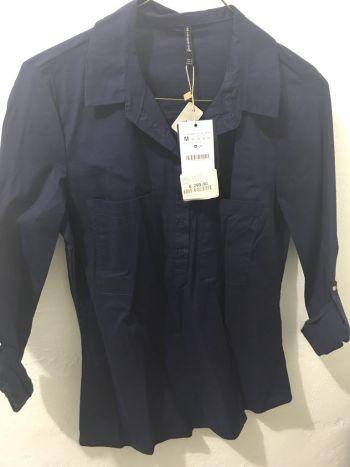 Camisa Azul marino Stardivarius