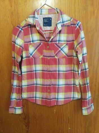 Camisa Cuadros American Eagle Outfitters Talla 2