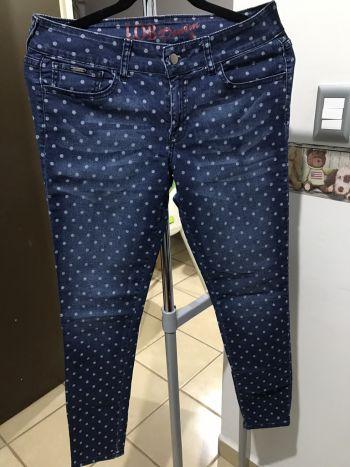 Jeans estampado lunares.