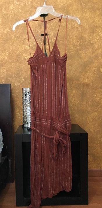 Vestido flapper marrón