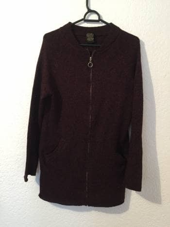 Sueter tipo cardigans
