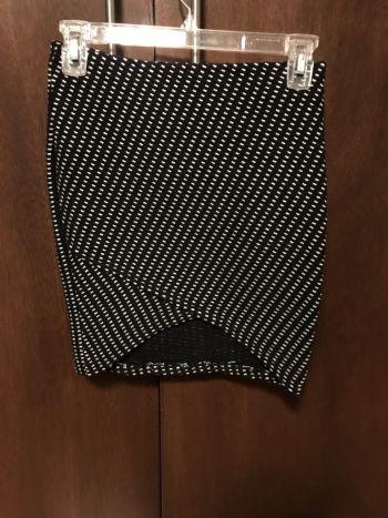 Falda cuadros blanco negro stretch
