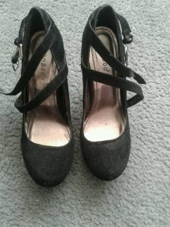 Zapatos plataforma tipo ante 5mx