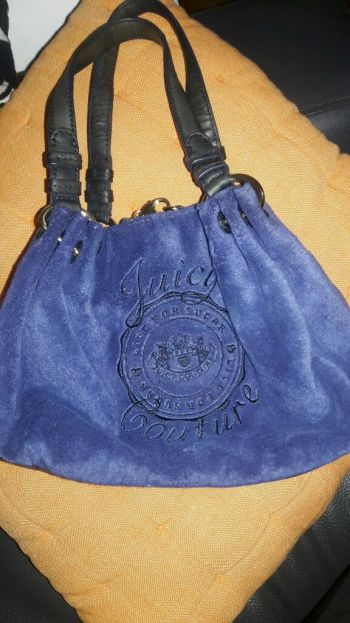 Bolso Juicy Couture velvet blue