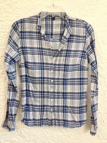 Camisa cuadros azules ligera