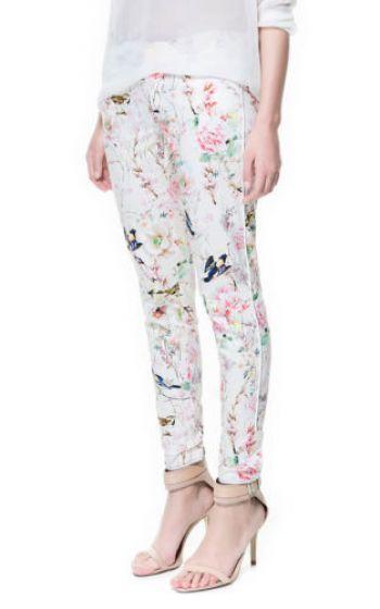 Pantalon zara floral