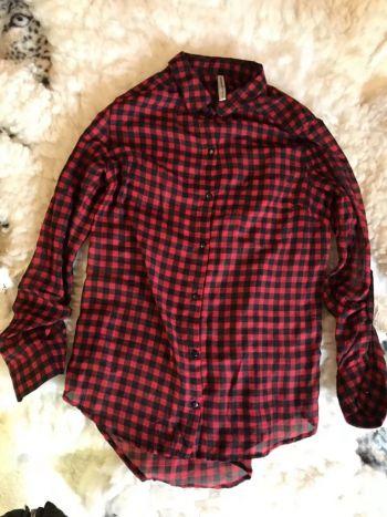Camisa cuadros rojo negro