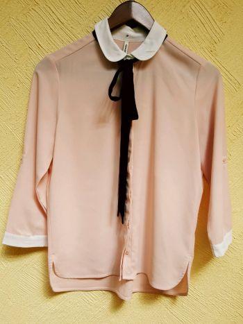 Blusa palo de rosa moño lazo liston