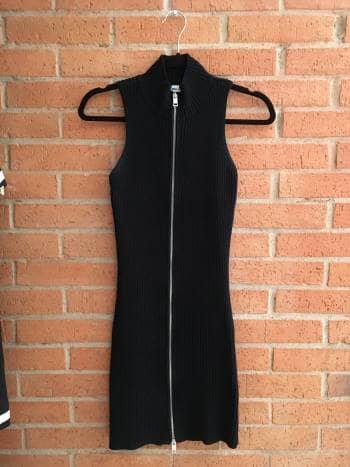 Vestido tejido negro zara