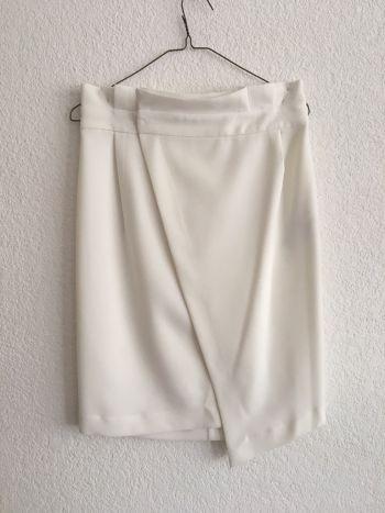 Falda lapiz blanca