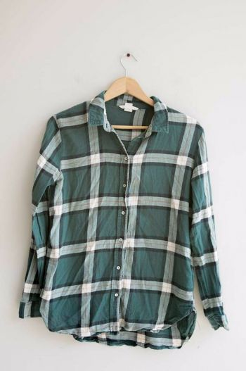 Camisa de cuadros verdes