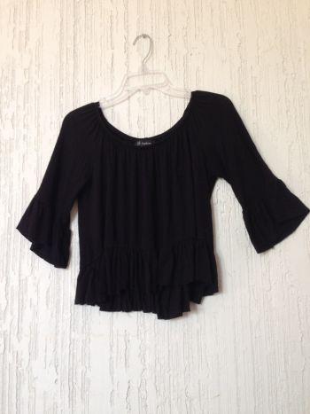 Blusa negra abombachada 2x300
