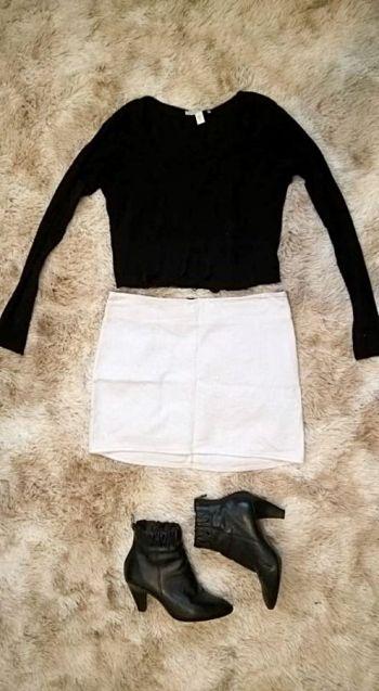 Minifalda blanca de algodón