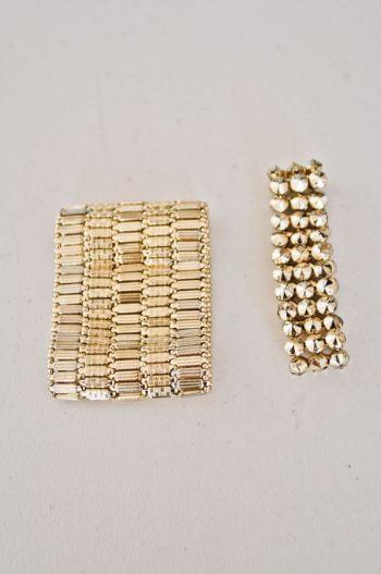 Pack de brazaletes dorados