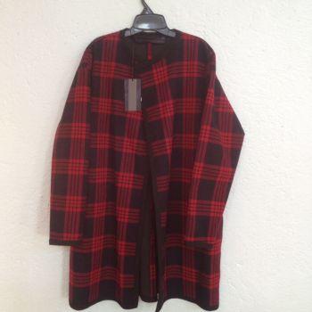 Abrigo cuadriculado Zara Woman