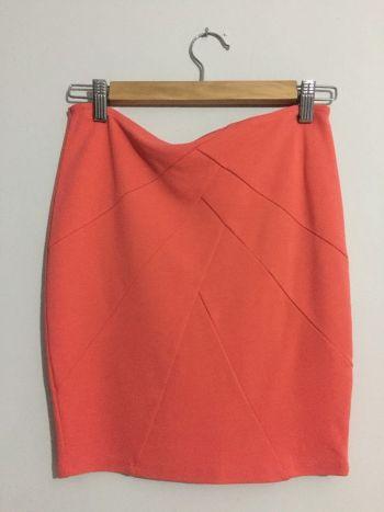 Falda Naranja Pull & Bear