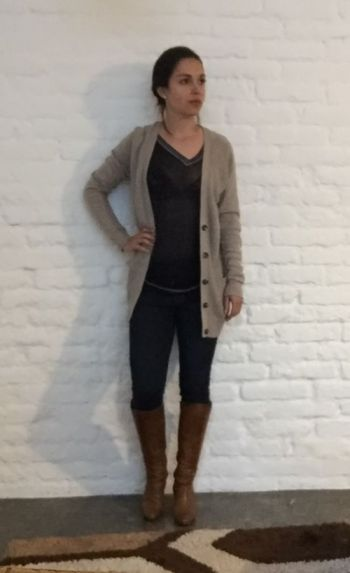 Cardigan boyfriend beige Old Navy