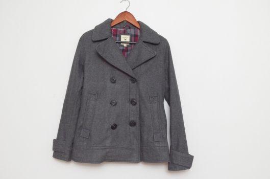 Abrigo gris corto  - Bershka