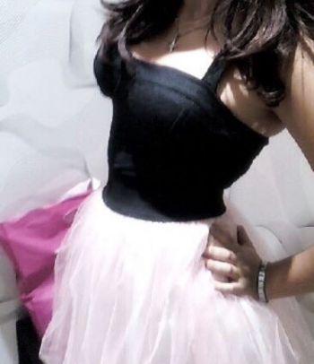 Vestido falda de tul rosa